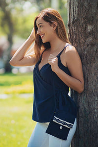 Vero Tank (Midnight Blue) - Huaywasi: Handmade in Peru