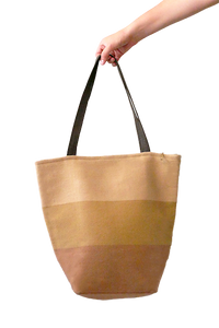 Daria Tote Bag with Zipper (Pale Peach) - Huaywasi: Handmade in Peru