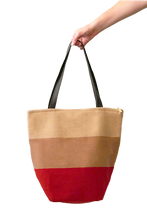 Load image into Gallery viewer, Daria Tote Bag with Zipper (Rouge) - Huaywasi: Handmade in Peru
