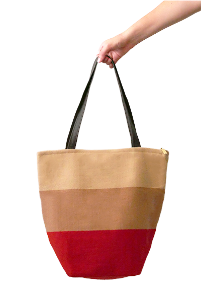 Daria Tote Bag with Zipper (Rouge) - Huaywasi: Handmade in Peru