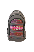 Load image into Gallery viewer, Viky Backpack (Slate) - Huaywasi: Handmade in Peru