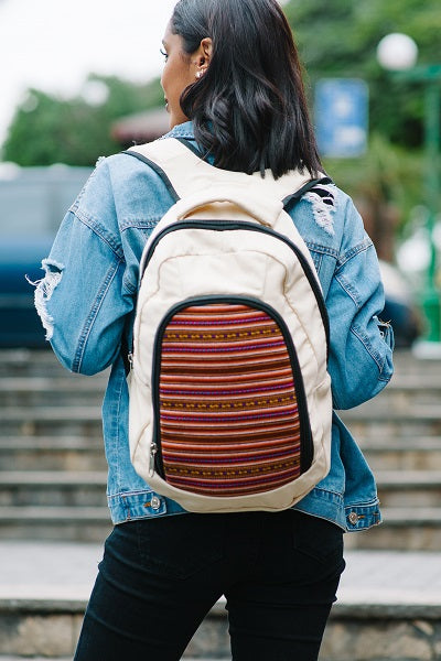 Viky Backpack - Oatmeal - Huaywasi: Handmade in Peru