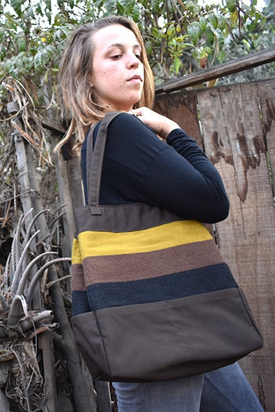 Gamarra Canvas Tote - Chocolate   SALE! - Huaywasi: Handmade in Peru