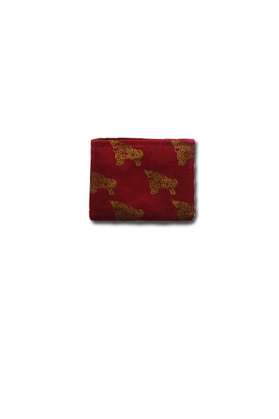 Torito Coin Purse (Deep Red) - Huaywasi: Handmade in Peru
