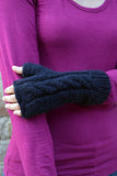 Trenza Fingerless Gloves - Black - Huaywasi: Handmade in Peru