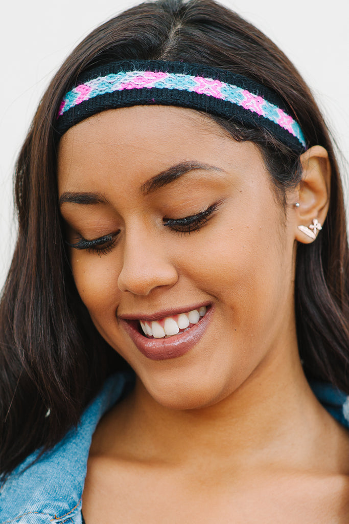 Alba Hand-Woven Headband (Thin) (Candy)   SALE! - Huaywasi: Handmade in Peru