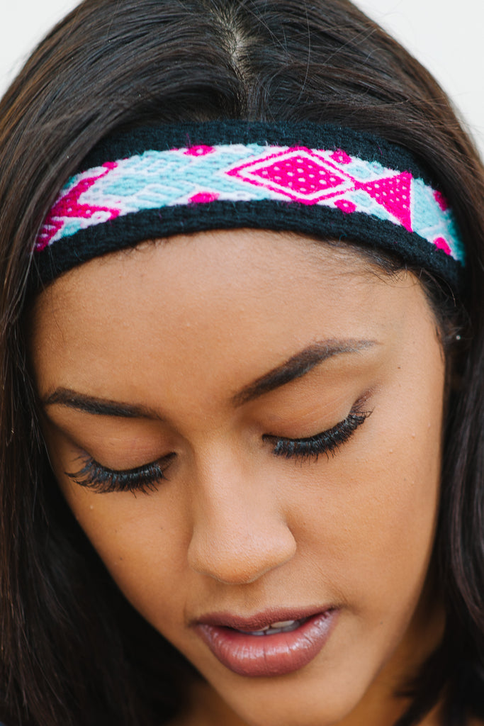 Alba Hand-Woven Headband (Wide) (Candy) SALE! - Huaywasi: Handmade in Peru