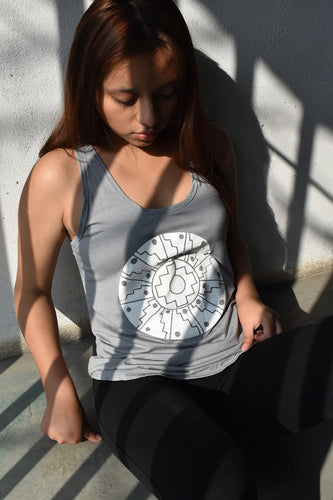 Incan Cross Yoga Tank (Slate) - Huaywasi: Handmade in Peru