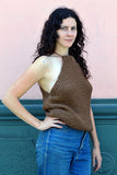 Jessica Knit Tank - Brown (M/L) SALE! - Huaywasi: Handmade in Peru