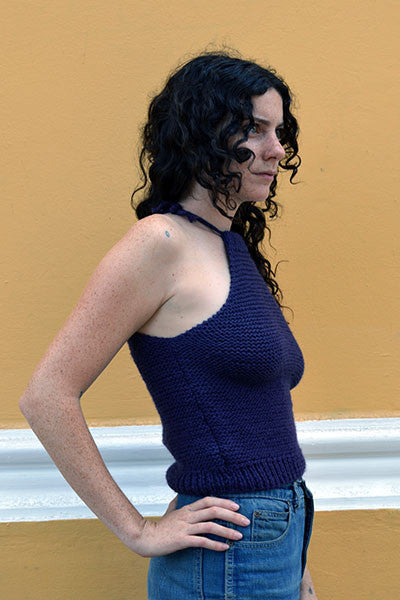 Jessica Knit Tank - Purple SALE! - Huaywasi: Handmade in Peru