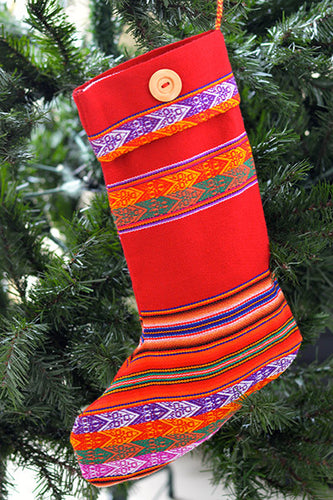Nochebuena Stocking - Huaywasi: Handmade in Peru