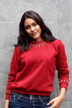 Load image into Gallery viewer, Lizzy Embroidered Sweatshirt (Deep Red) - Huaywasi: Handmade in Peru