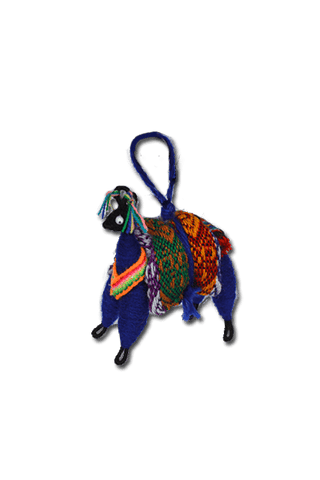 Medium Pucara Bull Ornament (Blue)
