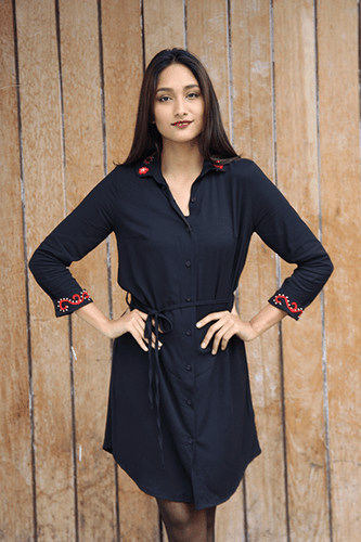 Mara Dress (Black) - Huaywasi: Handmade in Peru