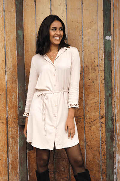 Mara Dress (Sand) - Huaywasi: Handmade in Peru