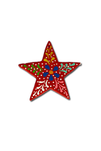 Load image into Gallery viewer, Star Ornament (Red) - Huaywasi: Handmade in Peru