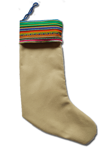 Papá Noel Stocking (Green) - Huaywasi: Handmade in Peru