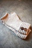 Pure Alpaca Huancavelica Button Gloves (100% Alpaca) (Oatmeal)
