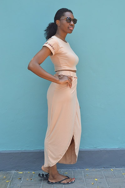 Rebecca Crop Top & Skirt Set - Oatmeal - Huaywasi: Handmade in Peru