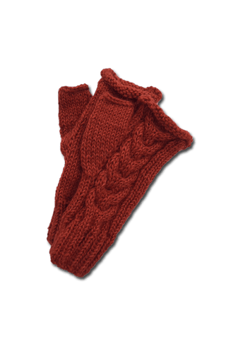 Tacna Fingerless Gloves (Thistle)