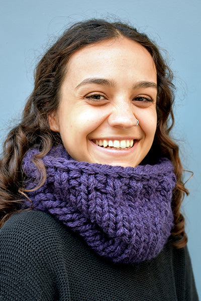 Chunky Infinity Scarf (Mauve) (Tight Fit)