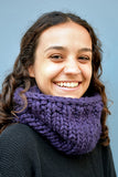 Chunky Infinity Scarf (Mauve) (Tight Fit) - Huaywasi: Handmade in Peru
