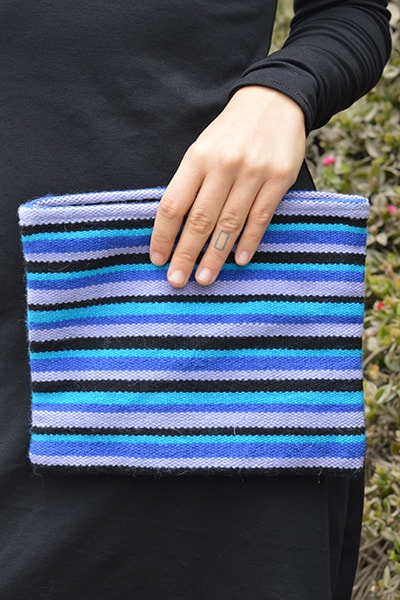 Daria Cosmetic Clutch - Winter Skies - Huaywasi: Handmade in Peru