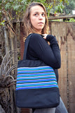 Gamarra Canvas Tote - Winter Skies - Huaywasi: Handmade in Peru