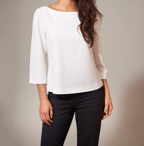 Women's Top in White Cream