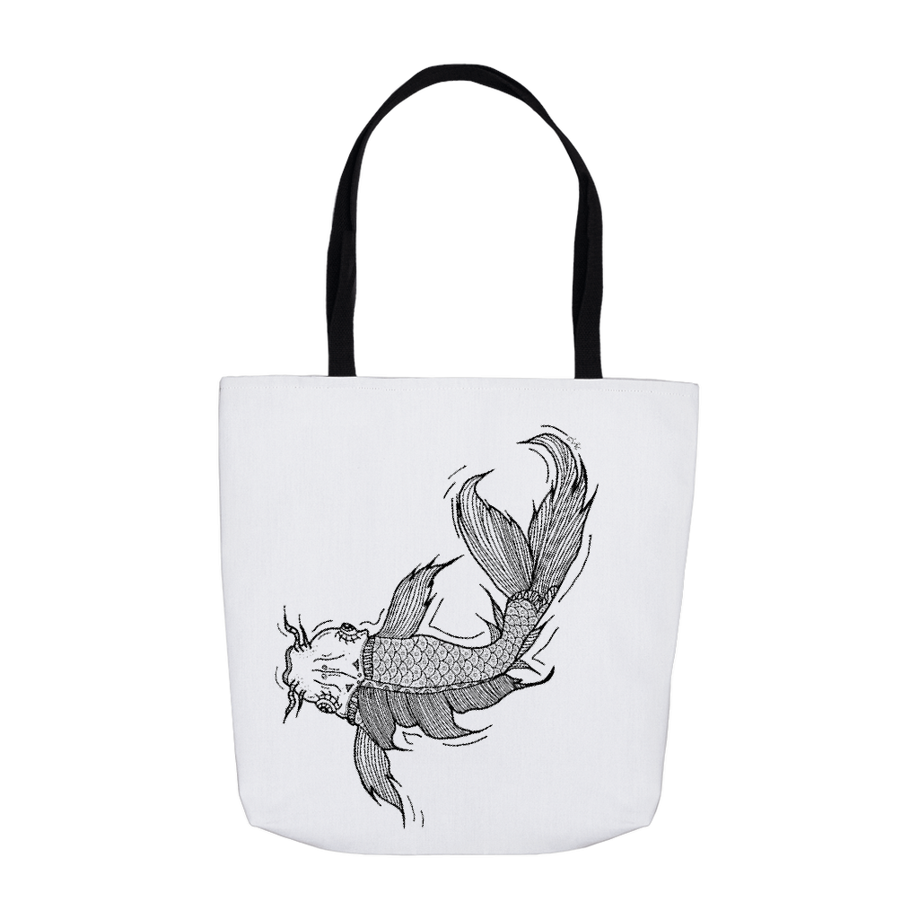 Koi tote bag by Habiba Elgendy