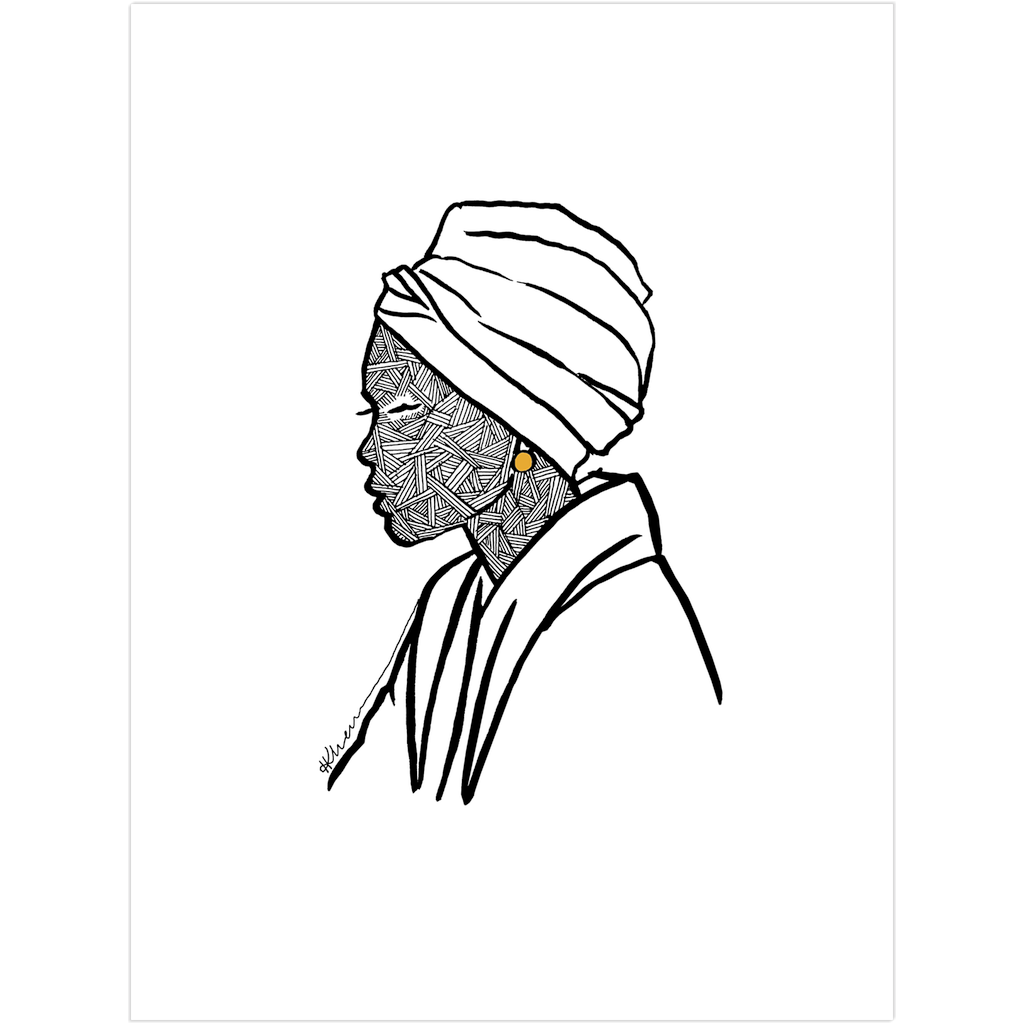 Turbaned Woman Fine Art Print