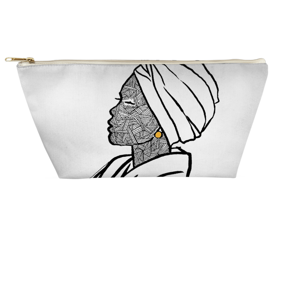 Turbaned Woman Pouch - Large