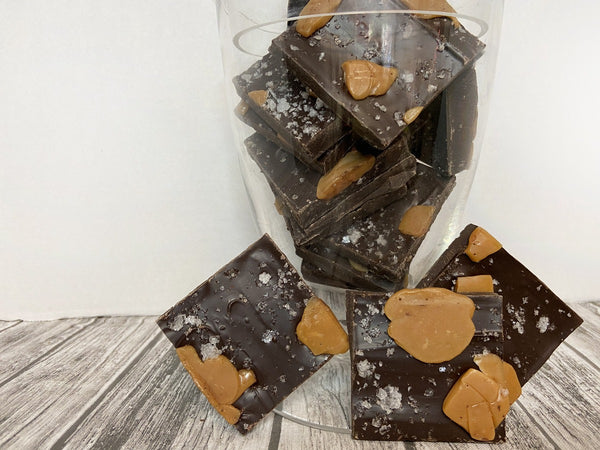 Love in a Jar...Salted Caramel Bark