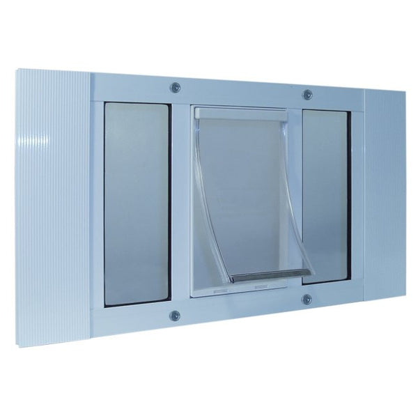 Aluminum Sash Window Pet Door - Small/33-38 Inches