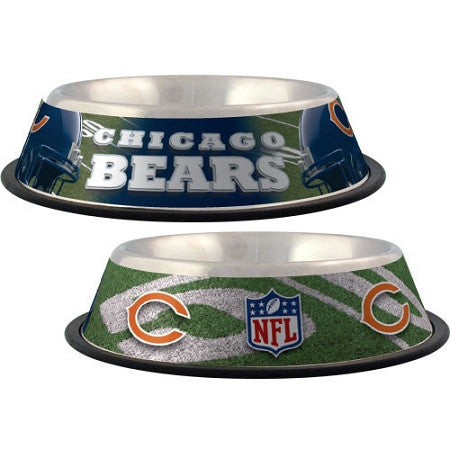 Chicago Bears Stainless Dog Bowl