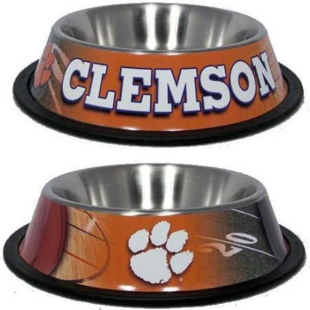 Clemson Tigers Stainless Dog Bowl