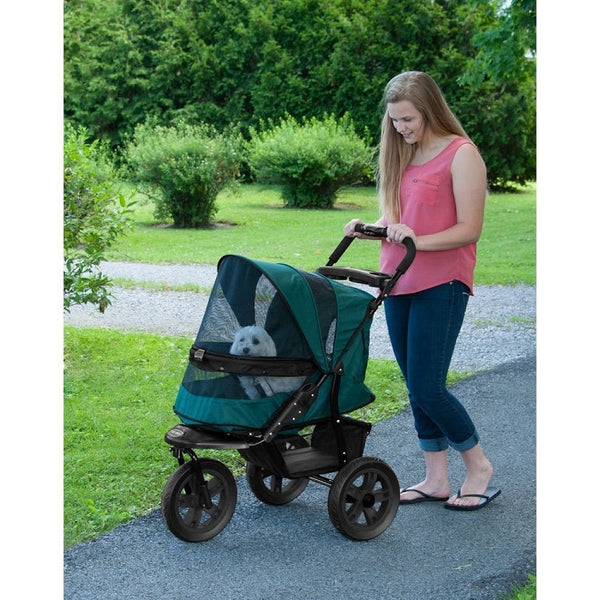 AT3 No-Zip Pet Stroller - Forest Green