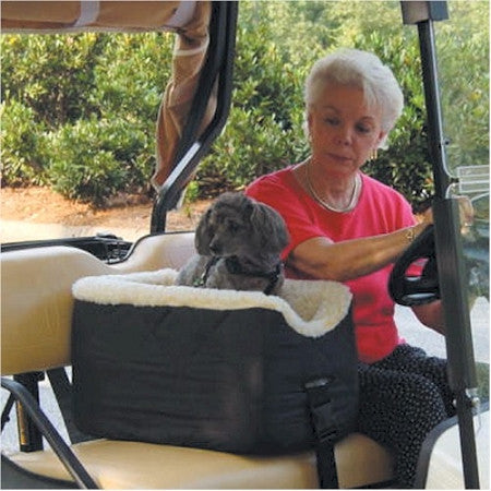 Golf Cart Lookout Pet Seat - Large/Black