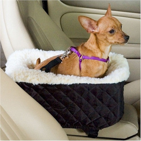 Console Lookout Dog Car Seat - Small/Black Quilt