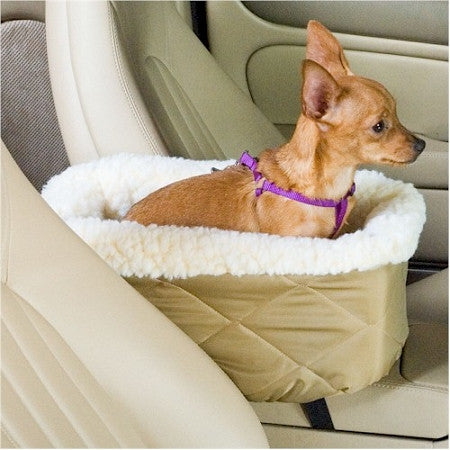 Console Lookout Dog Car Seat - Large/Black Quilt