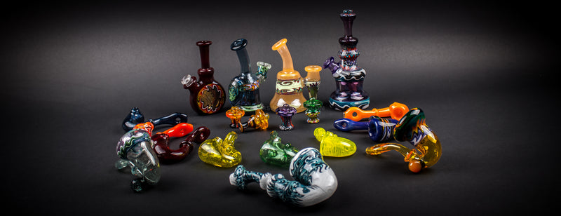 A beautiful variety of work from mini rigs to Sherlock's and functional pendants!