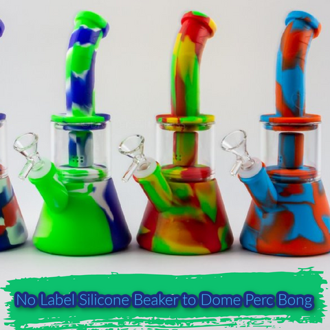 No Label Silicone Beaker to Dome Perc Bong