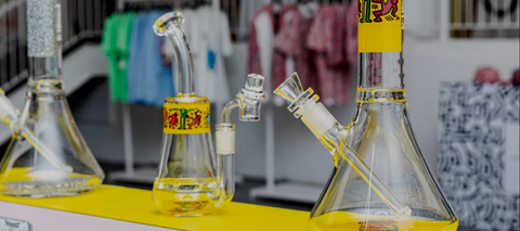 k. haring glass bongs