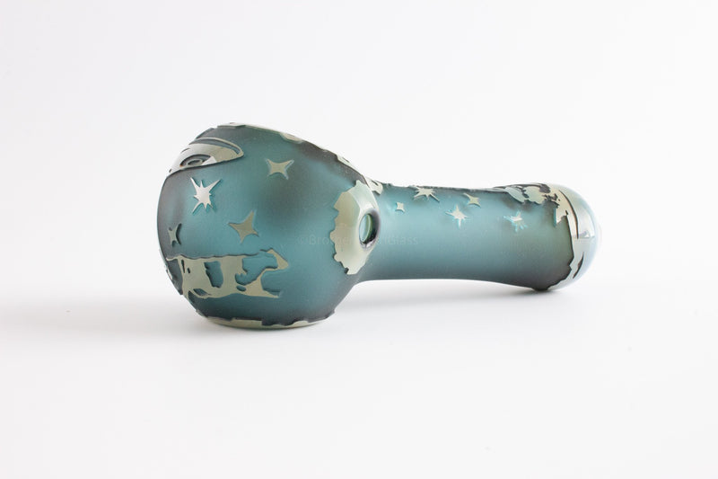 Liberty 503 Fumed Sandblasted Hand Pipe - Alien Life