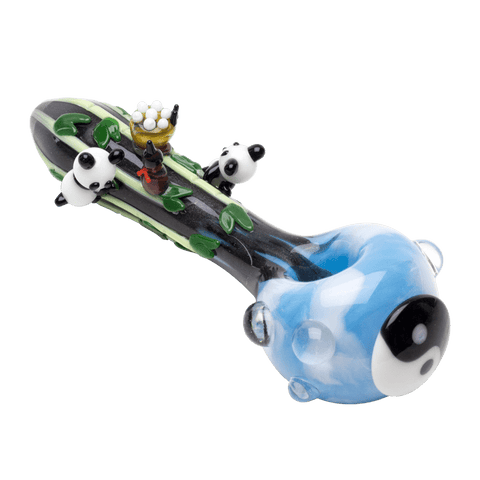 Empire Glassworks Heady Climbing Pandas Hand Pipe - Brothers with Glass - 1