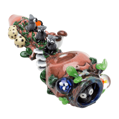 Empire Glassworks Heady Hootie's Forest Hand Pipe - Brothers with Glass - 1