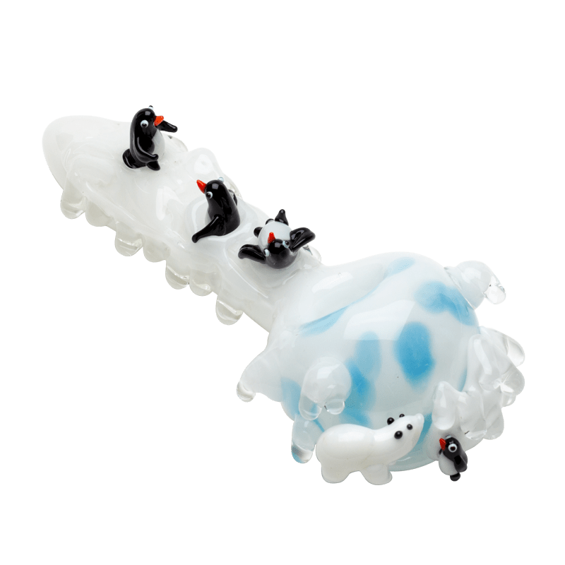 Empire Glassworks Heady Icy Penguins Hand Pipe - Brothers with Glass - 1