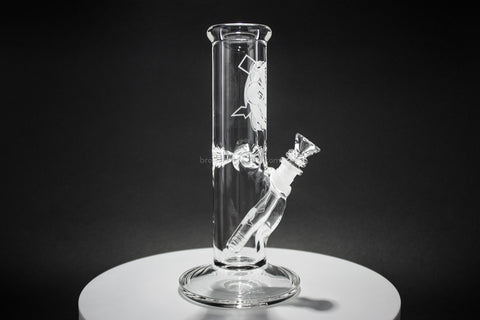 HVY Glass Clear 10 Inch Straight 9mm Water Pipe - Brothers with Glass - 1