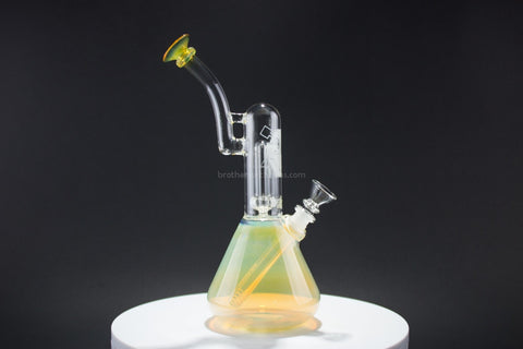 HVY Glass Showerhead Beaker Fumed Water Pipe - Brothers with Glass - 1