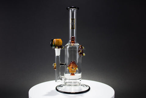 Empire Glassworks Flagship Honey Beehive Disc Water Pipe - Brothers with Glass - 1